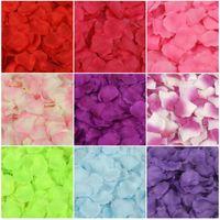 4000 Pcs Red Silk Rose Petals Artificial Flower Wedding Party Vase Decor Bridal Shower Favor Centerpieces Confetti