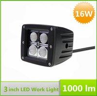Wholesale 12v Cree Waterproof Flood Light - 100% Waterproof Car Auto LED Spot Light 12V Work Light Cree 16W LED Light