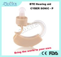 Wholesale Sonic Ear Amplifier - HOT Sale Best Sound Voice Amplifier Mini and Convenient AXON Cyber Sonic Hearing Aid Aids Adjust to either ear Free Shipping
