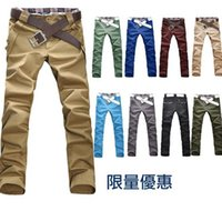 Wholesale Stylish Capris - Free shipping! The new 2015 men's fashion Free Shipping Top Men's Stylish Designed Straight Slim Fit Trousers Casual Pants