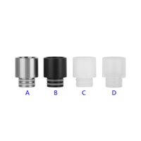 Wholesale Ego Black Stainless - Stainless Steel Resin 510 Drip Tips SS Black White Clear Wide Bore Drip Tip for 510 EGO Atomizer Mouthpieces RDA Vaporizer Box Mod