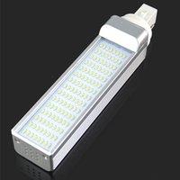 Wholesale G24 Led 22w - G24 12W 1200 lumens Highlight Cool White LED Plug Light Bulbs 120 Emitters 3014 LED Lamp Bulb AC 85-265V Y50*DA1237#M5