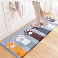 Wholesale Welcome Doormat - Kawaii Welcome Floor Mats Animal Cat Printed Bathroom Kitchen Carpets Doormats Cat Floor Mat for Living Room Anti-Slip Tapete JI0117