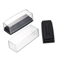 Wholesale Clear Display Packaging Gift Boxes - Wholesale Clear Cover Box for Tie Clip Pin Gift Boxes Wedding Engagement Favours Stickpin Display & Packaging Casket