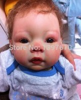 Gros-bon marché Safe Silicone vinyle Reborn Baby Doll Kits Head 3/4 Jambes armes pour 22