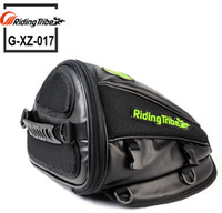 Wholesale Motorcycle Tank Leather - Riding-TRIBE Synthetic Leather Motorcycle Moto Bag Helmet Tool Bag Handbag Waterproof Motorbike Riding Oil Fuel Tank Bag Luggage