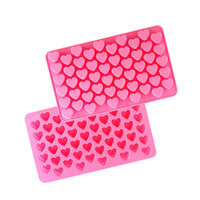 Wholesale Cute Sweet Heart - Lovely and Cute 55 Sweet Heart Shape Decorative Cake Mould Silicone Easy Clean 3D Candy Pastry Mould Chocolate Mold for Sale