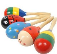 Wholesale Best Wooden Baby Toys - Wholesale-Best price Toy Rattle Cute Mini Baby Sand Hammer baby toys musical education 20pcs