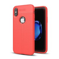 Wholesale Leather Slip Covers - Soft TPU Silicone Case Anti Slip leather texture Phone Cases Cover For iPhone X 8 7 6 6S Plus 5 5S Samsung Note8 S7 Edge S8 Plus