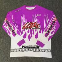 Wholesale Lycra Full Sleeve T Shirt - 032c T Shirt Men Women High Quality Purple chain 032c Full Sleeves t-shirts Nomad Hip Hop Top Tees Fashion 032c T Shirt