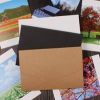 Wholesale 4x6 Photos - 4x6 inch Balck White Cardboard Photo Packaging Box Kraft Postcard Envelope Photo Package Case Gift Box ZA5215