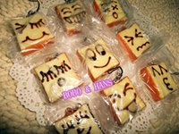 Wholesale Squishy Cartoon Toasts - Wholesale-New Cute cartoon small Face Toast squishy charm   mobile phone strap Pendant   Wholesale