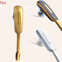 Wholesale Headphone White - 2015 New Headphones High Quality Stereo Earphone For Iphone Bluetooth Universal Bluetooth Headset For Samsung Headphone Gold White SV003955