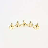 Wholesale Spiral Headbands - Spiral Pearl Gold Plated Hairpins Hair Accessories For Women Headbands Bridal Wedding Hair Ornament Barrette Para El Pelo