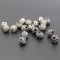Wholesale Skull Beads Bracelets 925 - Loose Gemstone Beads Silver Spacer Beads Pandora Style Charms Skull Beads 925 Sterling Silver Openwork Heart Bead Jewelry Bracelets
