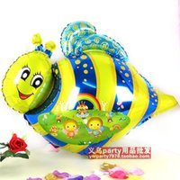 Wholesale Balloon Bee - birthday wedding holiday decoration small Bee cartoon foil balloon 20pcs lot mix free shipping