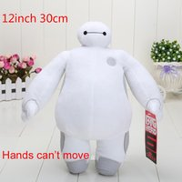"""Wholesale Toy Moving Animal Doll - 12""""30cm hands can't move Big Hero 6 BAYMAX Stuffed Animal Plush Toy With Tag Doll For Girl high quality plush"""