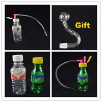 Mini Glass Oil Rig Tragbare Rauchen 9.9mm gemeinsame Stoned Spring Water Mineral Water Bottle Shaped 4