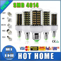 Wholesale Pc Spotlight - 10 pcs SMD 4014 Led Corn Lights 12W 18W 25W 30W 35W Led Bulb E27 E14 GU10 G9 Led Lights AC 85-265V lamp bulbs 360deg Spotlight