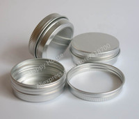Wholesale Wholesale Metal Containers - Free Shipping - 30pcs lot 30G Aluminum Jar, 1oz metal Cosmetic Packaging Container,30cc professional cosmetics container