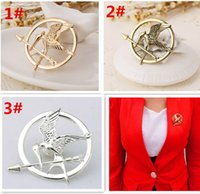 Wholesale Promotion Brooch - best price 3 colors The Hunger Games Brooches Inspired Mockingjay And Arrow Brooches Pin Corsage Promotion European D429