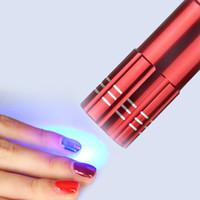 secador rápido de uñas al por mayor-Lámpara mayor-LED UV Secador de uñas portátil para el gel de uñas 15s Máquina de arte polaco curado en seco rápido