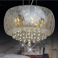 Wholesale Draw Lamp - Morden led TOP K9 Pendant Light 50cm 40 cm Diameter Crystal chandelier Dinning Room led ceiling Light Restaurant lamp for Drawing Room Hall