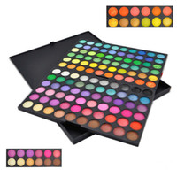 Wholesale professional ems - Wholesale 24sets  lot Professional 120 Colors Eyeshadow Eye Shadow & Blusher Palette Powder Makeup Cosmetic Fashion Kit EMS DHL free ship