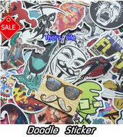 Wholesale Sticker Bomb Motorcycle - New style vinyl stickers for car sticker decal bicycle laptop sticker on car styling sticker bomb doodle motorcycle accessories