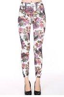 tipo leggings al por mayor-Leggings con estampado floral tipo leggings LC79658 FG1511