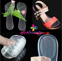 Wholesale Good Feet Shoes - High Heel Silicone Gel Cushion Insoles Shoe Anti Slip Feet Pad Transparent Good Quality Hot Selling 5pairs