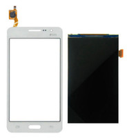 Wholesale Display Grand Duos - Wholesale-White Touch Screen Panel Sensor Lens Glass + LCD Display Monitor 100% Test For Samsung Galaxy Grand Prime Duos G530 +Tools
