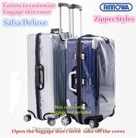 "Wholesale Protective Suitcase Covers - Free Delivery   Clear PVC Protective Skin Cover Protector for RIMOWA Salsa Deluxe 20"" 22"" 26"" 28"" 30"" 32"" Case Protect and dress up suitcase"