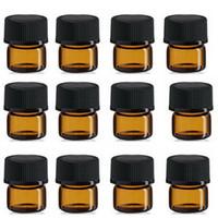 muestra gratis envío al por mayor-Mini botella de cristal ambarina libre del envío 1ML, frasco ambarino de la muestra 1CC, precio de fábrica pequeño de la botella del aceite esencial