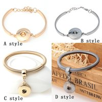 Black Gold Couleur élégant en métal Ginger Charm Bracelet 1 Enclenchez Bracelets DIY Bangle Jewelry interchangeables E486L 4 de style
