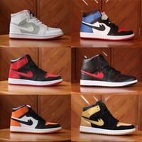 Wholesale Mens Mandarin - 2018 Mens Air Retro 1.0 Top Men Basketball Shoes Retros 1s OG Sneakers AAA Quality Mandarin duck shoe Trainers Mens Sport Shoes Size 7-12