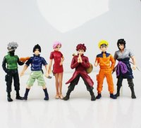 Wholesale Naruto Figure 6pcs - 2016 new Naruto Figures Kakashi Uzumaki Sasuki Sakura Gaara PVC Figure Toys Model Dolls 8cm Approx 6Pcs Set