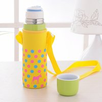 Wholesale Girls Thermos - Thermal Cup Thermos Stainless Steel Vacuum Flask Bullet Pattern Candy-Colored High-Quality Cold Cup Cute Cups For Girl Student