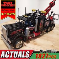 Wholesale Tow Truck Toys - DHL LEPIN 20020 Technic Series Pneumatic Tow Truck Model Electric Building Block Set Compatible 8285 Brick Educational Toy Child