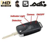 Wholesale Micro Car Video Recorder - HD 720P Car KeyChain Camera Mini Spy Cam Hidden cameras Espia Micro DV DVR Video Recorder Camcorders