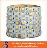 Wholesale High Lumen Rgb Led Lights - 24v LED Strip SMD 5050 LED flexible light 60 led   M IP65 waterproof epistar chip high lumen CE&ROHS W WW R G B