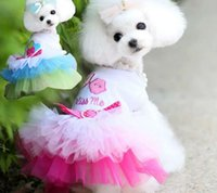 Wholesale Cheap Clothing For Dogs - Cute Dog Clothes 2015 Cheap Pet Dress Pretty Hot Selling Dog Supplies Nice Princess Skirt For Dog 1 Pce A Lot Puppy Clothes Pink And Blue
