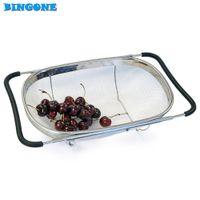 Pull Retractable Drain Basket Rack Stainless Steel Sink Dish Rack Vegetables Basket Kitchen Sink Accessories 35