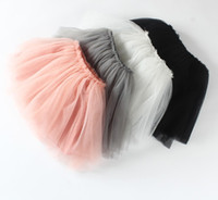 Wholesale Tutu Wholesale Kids Dance - Autumn 5 colors Top Quality candy color kids tutus skirt dance dresses soft tutu dress 3layers children skirt clothes skirt princess