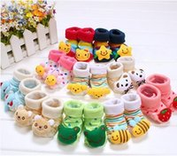 Wholesale Hot Girl Hose - Hot Sale Baby Doll socks Cute Anti-slip Baby Boys Girls Sock Cartoon Animal hose Stocking Free Shipping