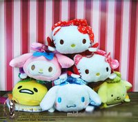 TSUM TSUMS O cão do pudim de brinquedo de pelúcia Kawaii Dolls Anime Celular Screen Cleaner Chaveiro Bag Cabide para o telefone móvel