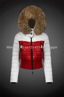 Wholesale Hooded Outwear Women - Fur Collar Hooded Coat Outwear Colors Red Black 2017 New Winter Coat Women Down Jacket Coat
