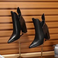 bottes de moto femme haute plate-forme achat en gros de-Mode de luxe Femmes Cheville Chaussures De Marche À Talons Hauts 9.5CM Plate-Forme Chevalier Bottes De Moto Réel En Cuir Taille 35-40