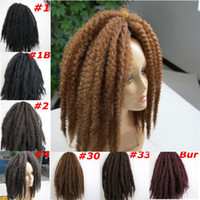 Wholesale Afro Kinky Hair Bulk - Kanekalon Synthetic Marley Braids hair Bulk 20inch 100g Afro Kinky twist synthetic braidiing hair extensions more colors
