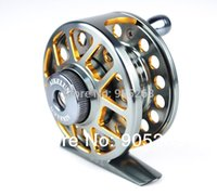 Disponível frete grátis ZFseries duplo cor Aminum Die casting CNC Fly pesca reels Fishing Tackle Fly Fishing Wheel